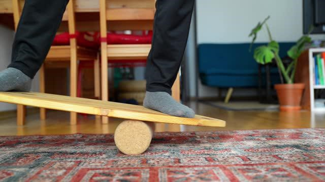 Using a Hockey Balance Board to Strengthen Your Ankles